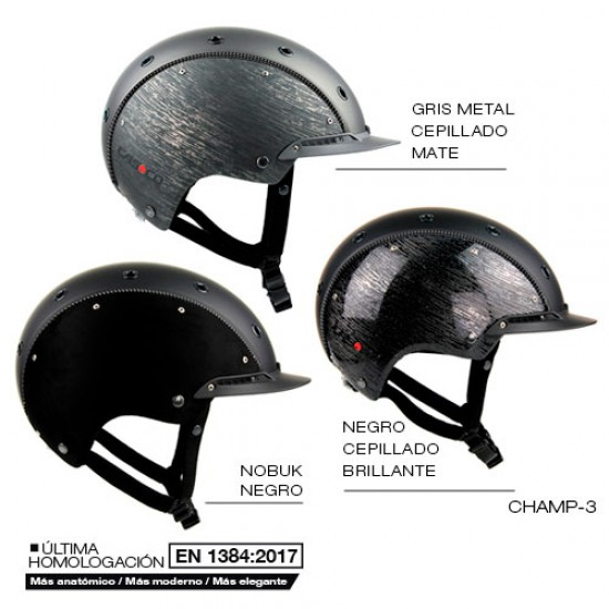 CASCO CAS CO CHAMP-3 NEGRO M (56-58)